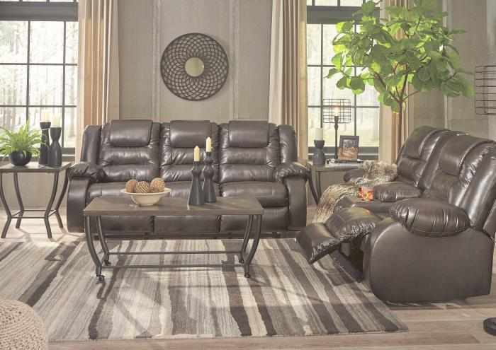 Alliston Brown Reclining Sofa and Reclining Loveseat,Jaron's Showcase