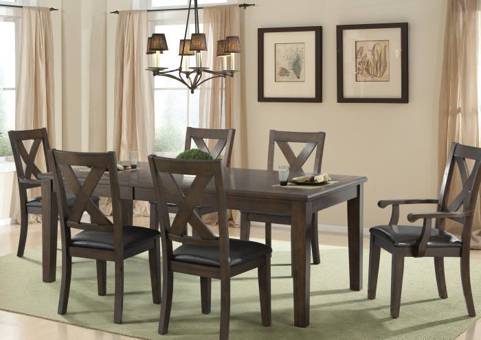 Copper Ridge Table and 6 Chairs,Jaron's Showcase