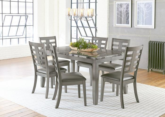 Canaan Table and 6 Chairs-All in One,Jaron's Showcase