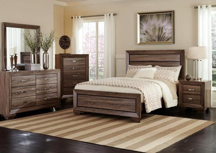 Brook King Panel Bed,Jaron's Showcase