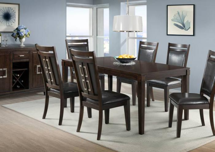 Rodney Table and 6 Chairs,Jaron's Showcase