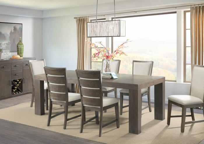 Grady Table with 6 Side Chairs,Jaron's Showcase