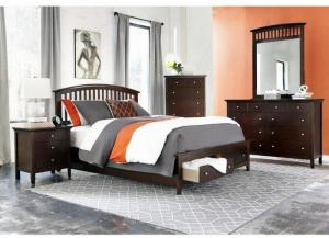Hampton Queen Storage Bed, Dresser, Mirror, Chest and 1 Nightstand (SOLD AS SET ONLY)