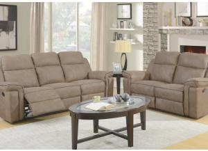 Jamestown Saddle Reclining Sofa and Reclining Loveseat