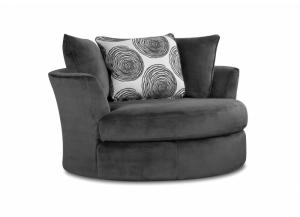 Big Swirl Smoke Swivel Chair