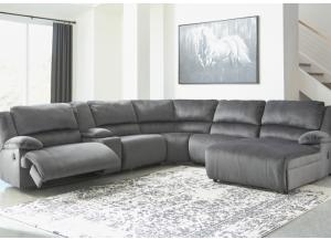 Brighton 6 Piece Charcoal LAF Reclining Sectional