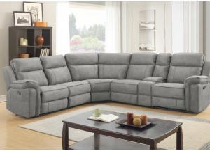 Jamestown Granite 6 Piece Reclining Sectional,Jaron's Showcase