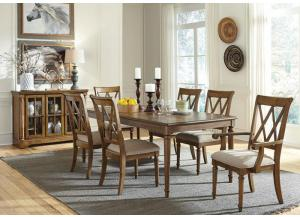 Rossmore Table, 2 Arm Chairs and 4 Side Chairs-2 FLOORSAMPLES LEFT