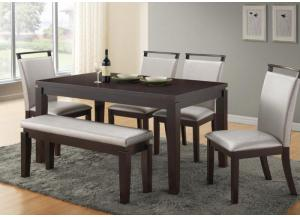 Serena Table, 4 Chairs and Bench-2 FLOORSAMPLES LEFT