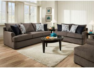 Image for Grandstand Flannel Sofa and Loveseat