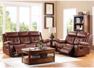 Benedict Leather Reclining Loveseat