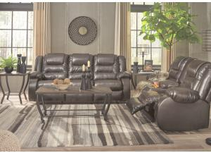 Alliston Brown Reclining Loveseat