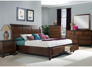 Stanton Queen Bed, Dresser, Mirror, Chest and 1 Nightstand