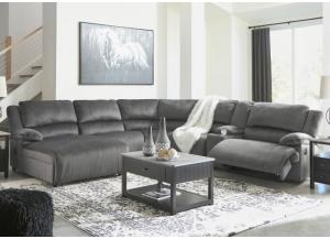Brighton 6 Piece Charcoal RAF Reclining Sectional