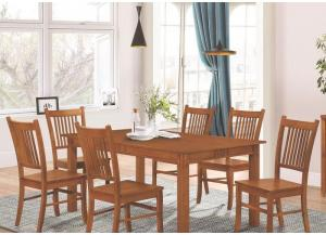 Mission Table, 6 Side Chairs and Server-LIMITED QUANTITY SHOWN IN BORDENTOWN