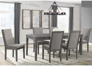 South Paw Table and 6 Side Chairs