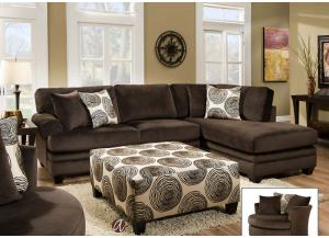 Image for Big Swirl Chocolate Ottoman