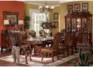Dresden Table, 4 Side Chairs, 2 Arm Chairs, Buffet and Hutch