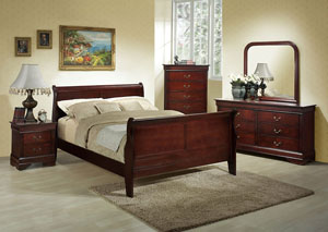 Marseille Full Sleigh Bed