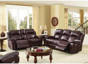 Warner POWER Reclining Sofa and POWER Reclining Loveseat