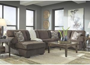 Justin Chocolate LAF Chaise Sectional,Jaron's Showcase