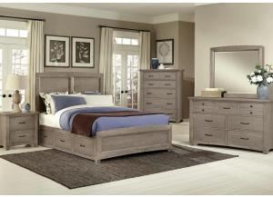 Catalina Queen Storage Bed, Dresser and Mirror