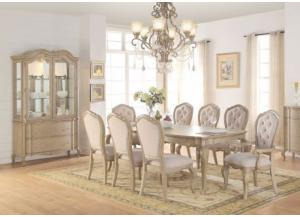 Chelmsford Dining Table with 4 Side Chairs, 2 Arm Chairs, China Buffet and China Hutch -FLOORSAMPLE BORDENTOWN