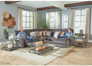 Triton 5 Piece Sectional with LSF Power Lay Flat Recliner-2 FLOORSAMPLES LEFT