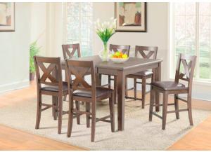 Copper Ridge Counter Height Table and 6 Chairs,Jaron's Showcase