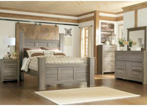 Spenser Queen Poster Bed, Dresser, Mirror, Chest and 1 Nightstand