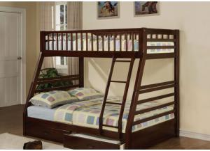 Jason Twin/Full Bunk Bed With Storage