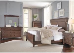 Franklin Queen Bed, Dresser, Mirror, Chest and 1 Nightstand-LIMITED QUANTITY