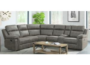 Image for Jamestown Granite 6 PC Reclining Sectional