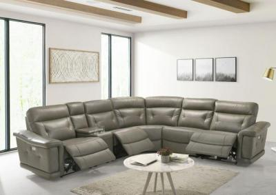 Image for Summit 6 Piece Leather Sectional with Power Recliners
