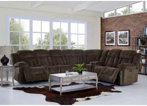Laura 6 Piece Power Reclining Sectional,Jaron's Showcase
