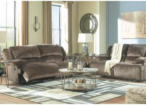 Brighton Chocolate Reclining Sofa and Reclining Loveseat