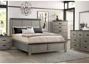 Wade King Bed, Dresser, Mirror, Chest and 1 Nightstand