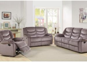 Bryant Reclining Sofa, Reclining Loveseat and Recliner Storm Gray-SOLD AS A 3 PIECE SET ONLY
