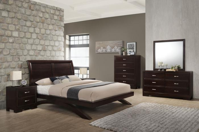 6434 QUEEN BED, DRESSER, MIRROR, 1 NIGHT STAND,Jerusalem Furniture