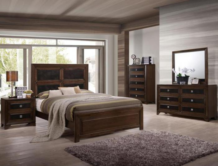 B6950 Queen Bed, Dresser, Mirror, Chest, 1 Night Stand,Jerusalem Furniture