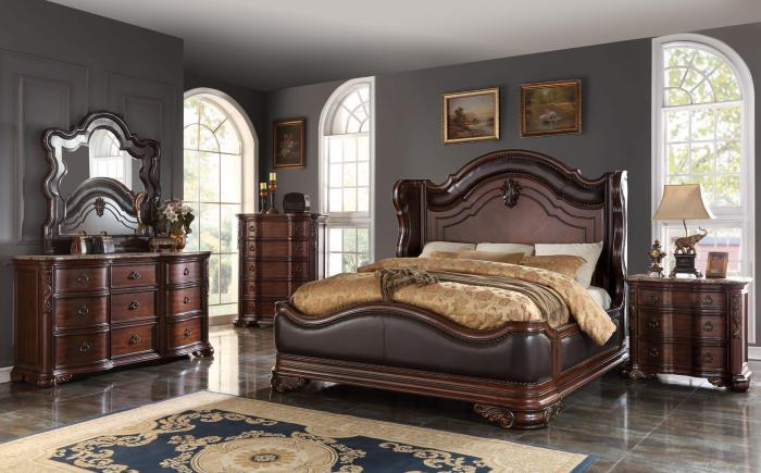 BD018- KING BED, DRESSER, MIRROR, 1 NIGHT STAND,Jerusalem Furniture