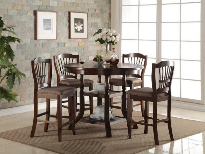 2541 COUNTER HEIGHT TABLE, 4 STOOLS,Jerusalem Furniture