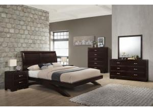 6434 QUEEN BED, DRESSER, MIRROR, 1 NIGHT STAND