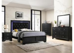 Image for 4350- Queen bed, dresser, mirror, chest, 1 night stand