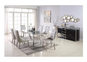 D1862- TABLE & 6 CHAIRS