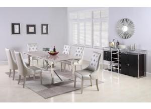 D1869- TABLE & 6 CHAIRS