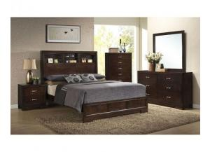 B4233- QUEEN BED, DRESSER, MIRROR, CHEST, 1 NIGHT STAND