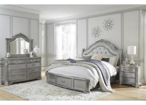 JULIET- KING BED, DRESSER, MIRROR
