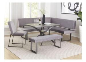 Image for D8716- TABLE, L-SHAPE BENCH, BENCH. 1 CHAIR