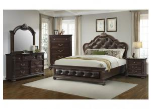 CL600 QUEEN BED, DRESSER, MIRROR